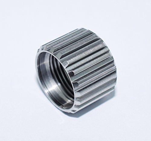 1/2 x 28 Barrel Thread Protector 9mm Stainless Splined