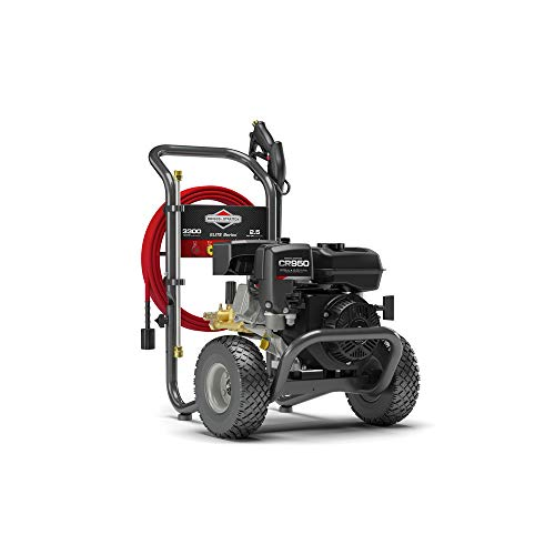 Briggs & Stratton Gas Pressure Washer 3300 PSI 2.5 GPM with 30' EASYFlex High-Pressure Hose, 5 Nozzles & Detergent Injection