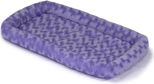MidWest Quiet Time Fashion Pet Bed, Periwinkle, 22 x 13