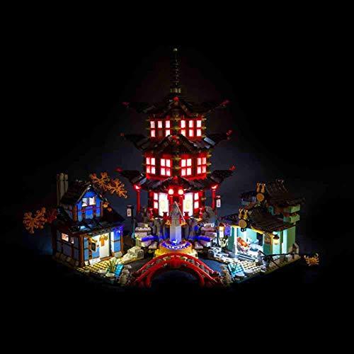 DOSGO Licht-Set Für Phantom Ninja Airshen Temple Village Modell - LED Beleuchtung Light Kit Kompatibel Mit Lego 70751 (Modell Nicht Enthalten)