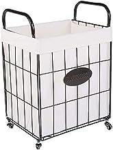 Room Service Cart Laundry Tool Cart Laundry Basket Clothes Storage Basket,Laundry Basket On Wheels Foldable Washing Basket...