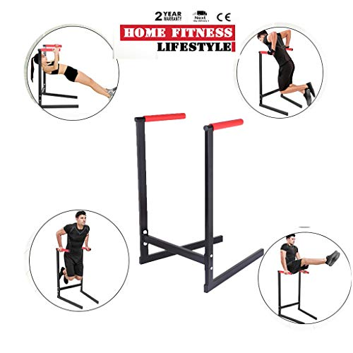 Dipping Station Heavy Duty Dip Stand Pull Push Up Dip Bar Fitness Workout Dip Bar Station Stabilizer Push Up Rack, Sturdy Home Chest Triceps Muscle Power Exercise Equipment, Ship from US