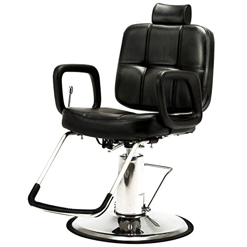 Artist Hand Hydraulic Recline Barber Chair Salon Chair for Hair Stylist Heavy Duty Tattoo Chair Shampoo Beauty Salon Equipment