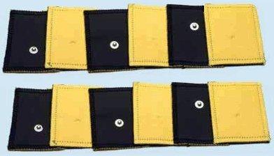 Kit 12 Elettrodi pezze in pelle ecologica Grandi 8x12cm spugne daino elettrostimolatore con clip 4mm