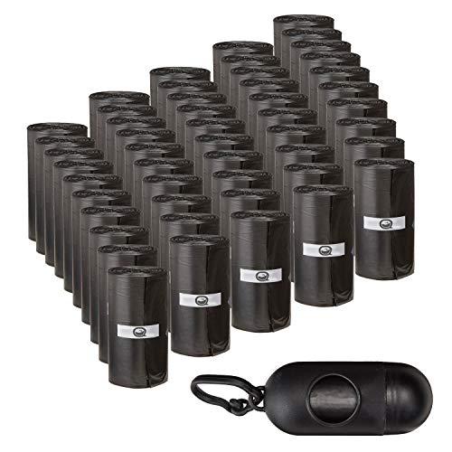 AQPET Sacchetti IGIENICI BUSTINE per BISOGNI Escrementi Cane Gatto Confezione da 1000 Pezzi con Dispenser E Clip per GUINZAGLIO