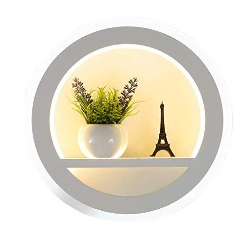 HTZ-M Lámparas de Pared LED, lámpara de Pared Redonda Creativa Minimalista Moderna, Pasillo, Escalera, Dormitorio, mesita de Noche, Sala de Estar, habitación para niños, luz Blanca