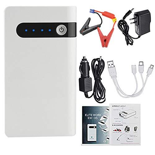 Kit de Arranque de Emergencia de Energía del Coche 12V Paquete de EnergíA con ProteccióN Segura Power Pack con luz LED incorporada Banco de energía con carga rápida USB