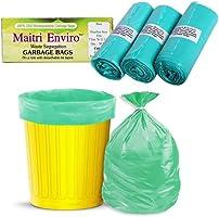 Maitri Enviro Plastic Garbage Bags, Green, 17 X 20 Inch, Small, 90 Bags