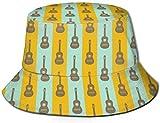 Personalidad Guitarra Arte Música Pequeño Unisex Estampado pescador Sombreros...