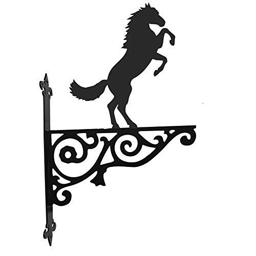 Stalen beelden Paard Rearing Sier Hangende Beugel