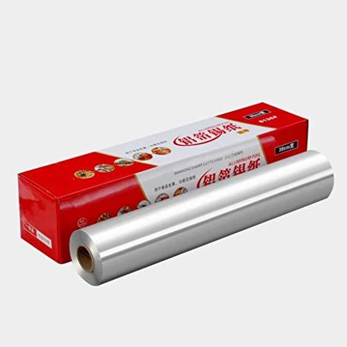 XYSQ Ultra-Thick Tin Foil Heavy Duty Aluminum Foil Roll,Heavy Duty Food Safe Foil Wrap - Best Kitchen Wraps & Baking Need (Size : 45cmx25umx100m)