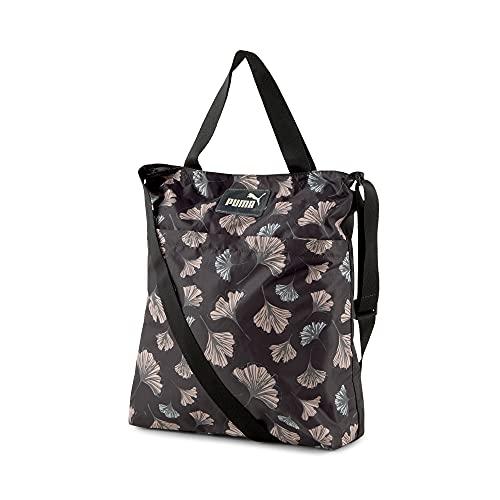 PUMA Damen Core Pop Shopper Tasche, Schwarz, AOP (Mehrfarbig), Einheitsgröße