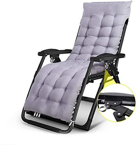 BATOWE Liegestuhl faltbare Lounge Chair Gravity Stuhl Sommer Klappstuhl Mittagspause Recliners Office Portable Gelegenheits Siesta Schwarz Blau Grau for Wohnzimmer Schlafzimmer schwangere Frauen Old M