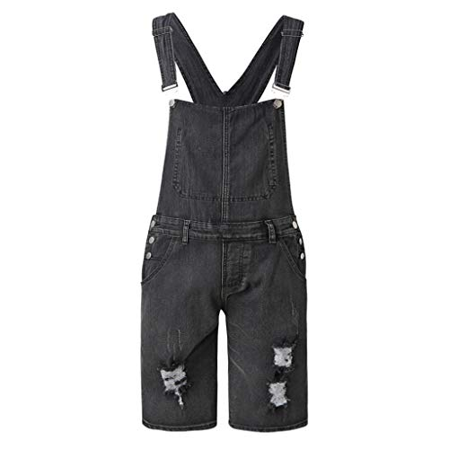 Best Buy! Mens Suspender Pants, F_Gotal Men's 2019 Newest Casual Overall Jumpsuit Jean Wash Broken...