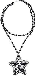 Snakeskin Star Necklace Double Choker