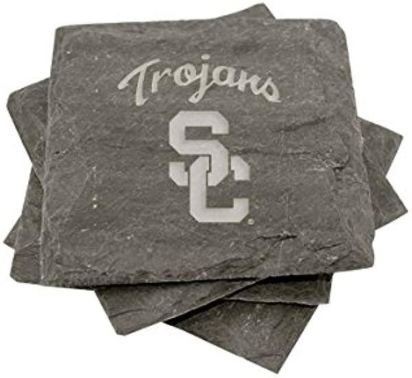 USC Slate Coasters Set Of 4