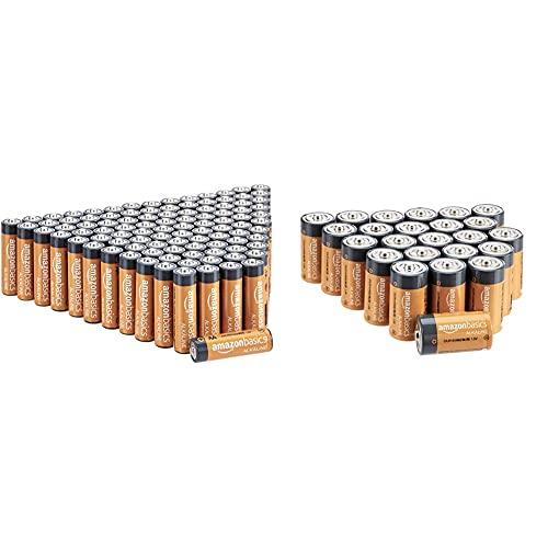 Amazon Basics Alkaline Battery Combo Pack   AA 48-Pack, C Cell 12-Pack (May Ship Separately)