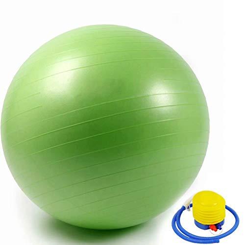 YANGHUI,GrüN Ball Stabilität Gymnastikball Balance Ball Anti-Rutsch & Anti-Burst unterstützt Luftfahrqualität Ideal für Yoga Pilates Workout Fitness Ball und Bürostuhl 105cm