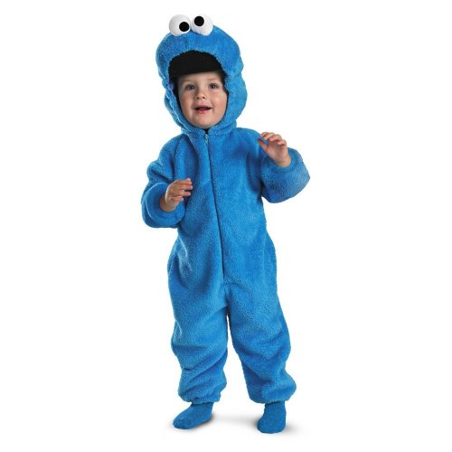 Cookie Monster Deluxe Two-Sided Plush Jumpsuit Costume – Medium (3T-4T)