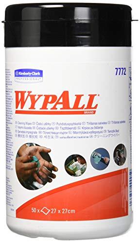 Wypall 7772 Wypall Panni umidificati per pulizia 27x27 cm, confezione da 50, colore: Verde