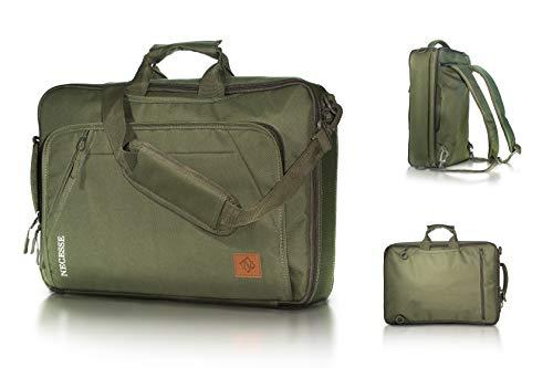 Necesse® Business Rucksack Herren (Grün) – Umwandelbarer All-in-One Backpack – Handgepäck Rucksack mit Laptopfach – Daypack für Arbeit und Uni
