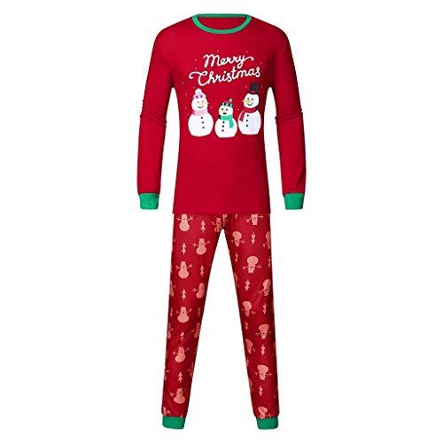 BaZhaHei Weihnachten Kinder Kinder Cartoon Schneemann Langarm Winter Warm Top + Hosen Weihnachten Familie Kleidung Schlafanzug Pyjama Outfits Nachtwäsche Set