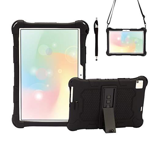 AKNICI 10 Pollici Custodia Cover per Blackview Tab8 Tablet 10.1 TECLAST P20HD Tablet 10.1 TECLAST M40 10.1 YESTEL T5 Tablet 10 DUODUOGO A39 plus AOYODKG A39 10 Pollici,Tracolla e Stilo,Nero