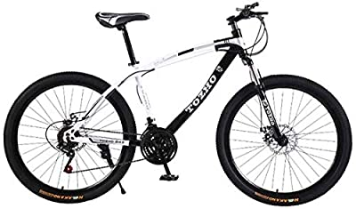 Amazing-cool Mountain Bikes 26 Inch Road Bike Adults High-Carbon Steel Double Front Suspension Bicycle 21 Speed Shock-Absorbing