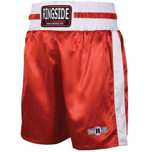 Ringside PRO-Style Kickboxing Muay Thai MMA Training Palestra Abbigliamento Pantaloncini Boxe Trunks, Uomo Donna, PST RD.WHLARGE, Red/White, L