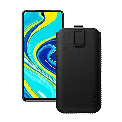 Slabo Case Cover Protettiva per Xiaomi Redmi Note 9 PRO | Note 9 PRO Max | Note 9S Custodia Protettiva con Chiusura Magnetica in Pelle PU - Nero | Black