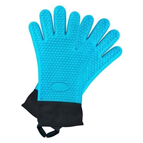 Asosmos 1 Paar Silikon Handschuhe Heat Hoch Temperatur Beständig Handschuhe Handschuh für Kochen Küche Vorräte