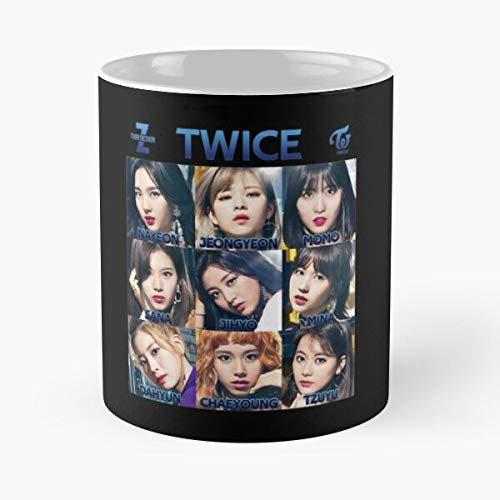 Twice - Bdz 3x3 Classic Mug 11 Oz Coffee Mugs Unique Ceramic Novelty Cup, The Best Gift For Holidays.