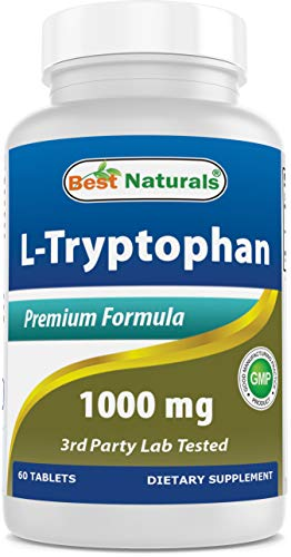 Best Naturals L-Tryptophan 1000 mg 60 Tablets