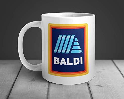 Baldi Mug - Funny Novelty Supermarket Brand Bald Mens Hilarious Cup Coffee Tea Chocolate Dads with No Hair