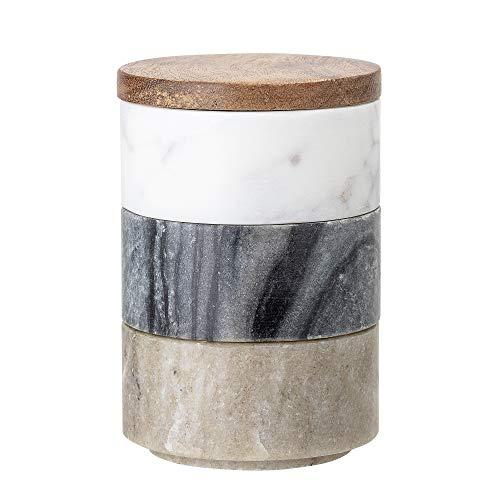 Bloomingville Behälter mit Deckel Gatherings, mehrere Farben, Marmor