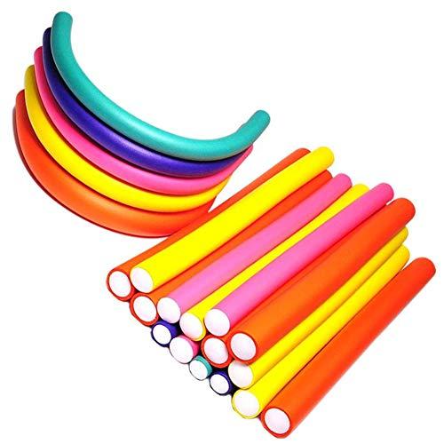 Lot de 30 bigoudis Outflower - Bâtonnets en mousse flexibles de 1 cm à torsader pour boucler ou onduler les cheveux - Accessoires de coiffure