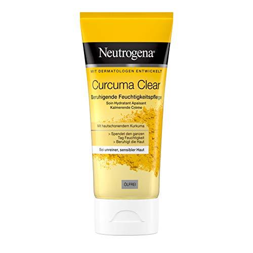 Neutrogena Curcuma Clear Beruhigende Feuchtigkeitspflege, Feuchtigkeitscreme, Gesichtscreme, Unreine und sensible Haut, 75 ml