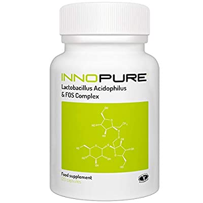 Probiotics + Prebiotics (FOS) Capsules | 5 Billion CFU | 4 Months Supply | Vegetarian Society Approved from Innopure