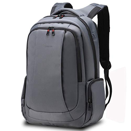 Mdsfe Anti Theft Nylon 27L Men 15.6 inch Laptop Backpacks School Fashion Travel Backpacking Backpack Male Backpack for Laptop - Dark Gray 15.6inch, a2