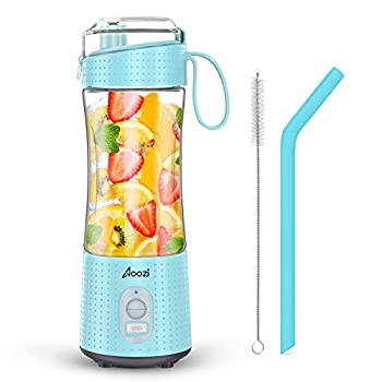 Portable Blender Personal Size Blender Smoothies and Shakes Mini Blender 4000mAh USB Rechargeable with Six Blades Handheld Blender Sports,Travel,Gym  Blue