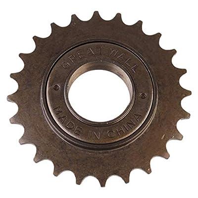 Garneck Single Speed Freewheel 24T High Strength Steel Bicycle Flywheel Sprockets Parts for Fixed Gear Bike Gold