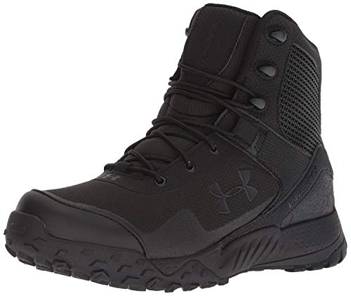 Under Armour Women's Valsetz RTS 1.5 Military and Tactical Boot, Black (001)/Black, 8