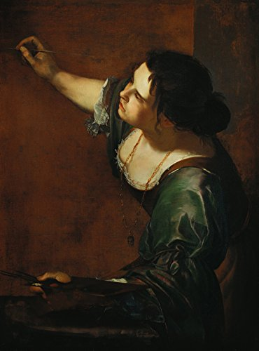 Artemisia Gentileschi - Self Portrait as the Allegory of Painting, Size 18x24 inch, Poster art print wall décor