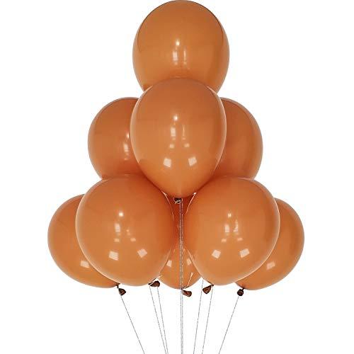 AZOWA Retro Cocoa Balloon 12 inch Small Latex Balloons for Party Decoration (Matte, 100 Pcs)