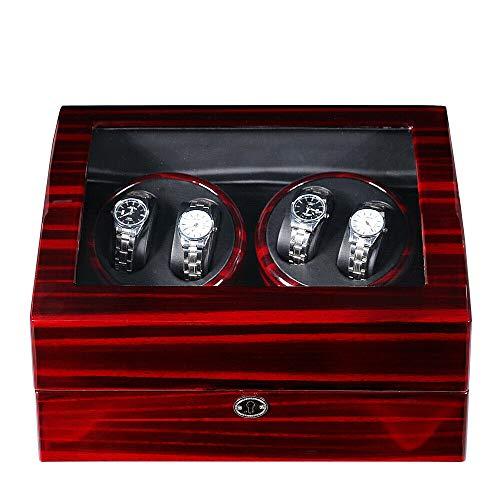 Caja expositora automática para relojes Watch Winder, para 4 + 6 relojes Watchwinder Watch Winder caja + adaptador
