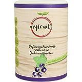 myfruits schwarze Johannisbeeren - gefriergetrocknet - ohne Zusätze, zu 100% aus Johannisbeeren, gesunde Zutat für Müsli oder Porridge (1er Pack)