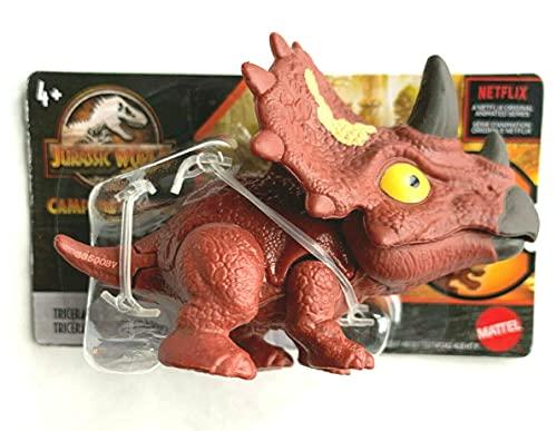 Figurine JurassicWorld 2021 Camp Cretaceous Snap Squad [Triceratops] Brown - Netflix 2' inch Chomper