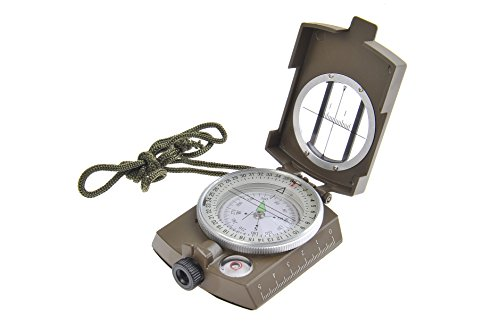 Huntington Kompass MG1 Camo Militär Marschkompass/Peilkompass Premium Qualität - professionell flüssigkeitsgedämpft, Metallgehäuse mit Linsensystem, bundeswehrgrün (K4580-01 DE)