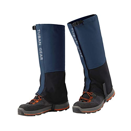 XINKAI Cubierta De Nieve Polainas De Senderismo Al Aire Libre Senderismo Desierto Cubierta De Zapatos A Prueba De Arena Tela De Nailon Cubierta Impermeable para Pies(Size:SG,Color:Azul)