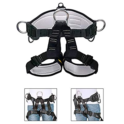 HeeJo Thicken Climbing Harness, Professional Mountaineering Safety Harness/Belt, Widen Harness for Rock Climbing Outward Bound SRT Fire Rescuing Rappelling